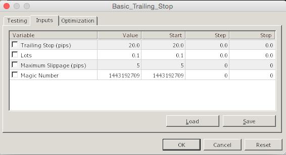 Basic Trailing Stop  - скачать советник (эксперт) для MetaTrader 4 бесплатно