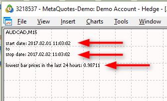EA High and Low last 24 hours - скачать советник (эксперт) для MetaTrader 5 бесплатно