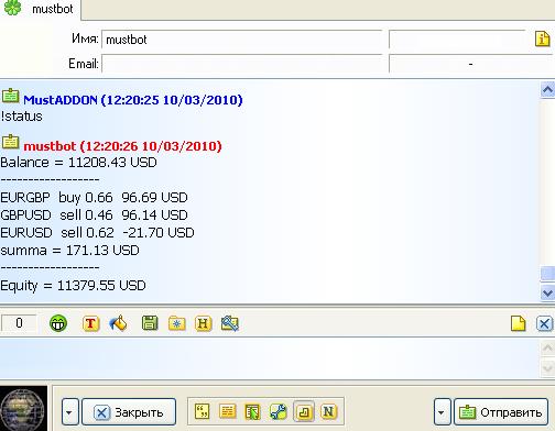 IcqMessenger  - скачать советник (эксперт) для MetaTrader 4 бесплатно