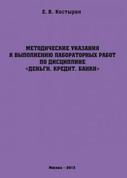 Методические указания к выполнению лабораторных работ по дисциплине «Деньги. Кредит. Банки» (Е. В. Костырин)