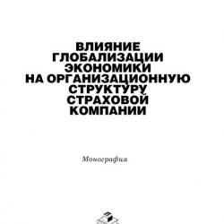 Влияние глобализации экономики на организацонную структуру страховой компании (Сергей Журавин)