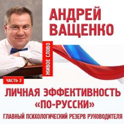 Аудиокнига Личная эффективность «по-русски». Лекция 3 (Андрей Ващенко)