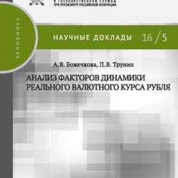 Анализ факторов динамики реального валютного курса рубля - скачать книгу