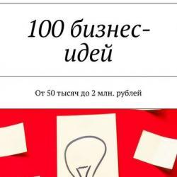 100бизнес-идей. От50тысяч до2млн. рублей - скачать книгу