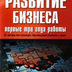 Развитие бизнеса: первые три года работы (Василий Лошкарев)