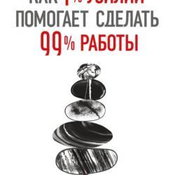 Как 1% усилий помогает сделать 99% работы (Коно Эйтаро)