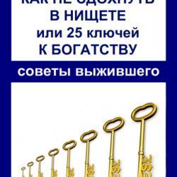 Как не сдохнуть в нищете, или 25 ключей к богатству (Аристарх Барвихин)