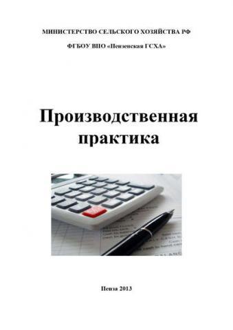 Производственная практика по бухгалтерскому учету (И. А. Бондин)