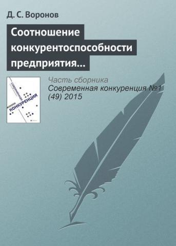 Соотношение конкурентоспособности предприятия и конкурентоспособности его продукции (Д. С. Воронов)